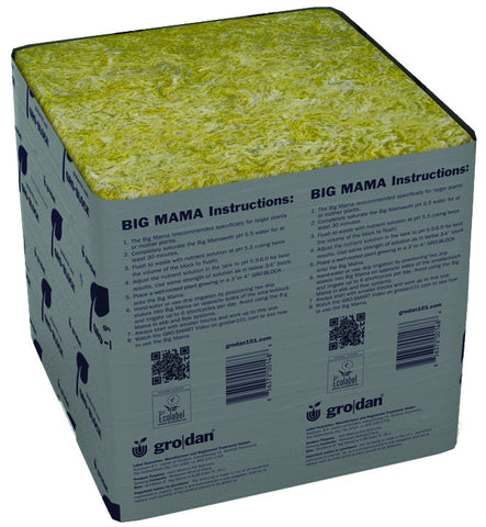 Grodan Big Mama 8x8x8 Case of 18