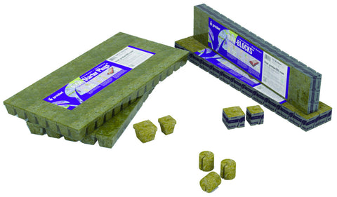 "Grodan MM50/40 6/15 Block, 2"" x 2"" x 1.5"", 60 strips of 24"