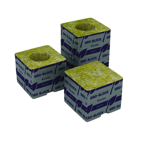 "Grodan Pro Delta 4 Block, 3""x3""x2.5"" with hole, case of 384 single"