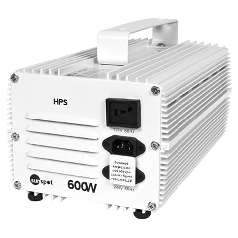 Sunspot HPS Ballast, 600W 120/240V