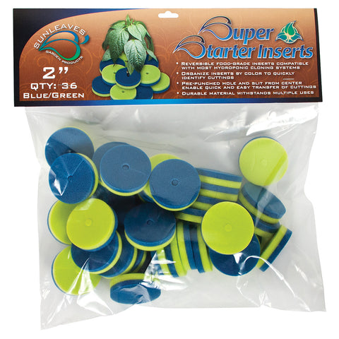 "Super Starter Insert, 2"", Blue/Green, 36 Pack"