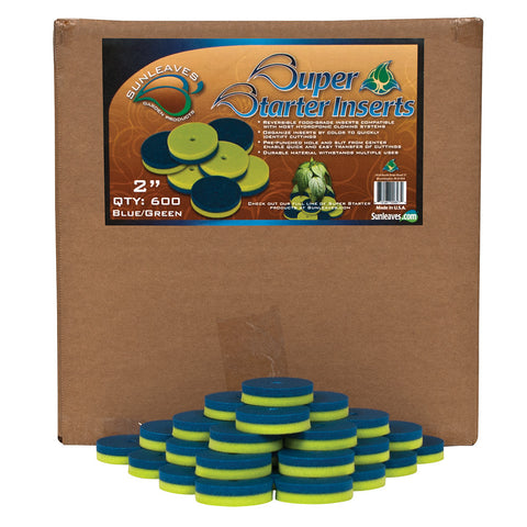"Super Starter Insert, 2"", Blue/Green, 600 Pack"