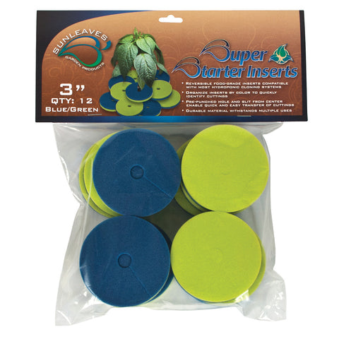 "Super Starter Insert, 3"", Blue/Green, 12 Pack"