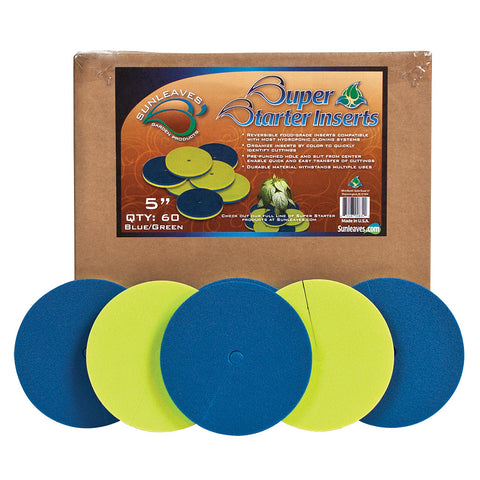 "Super Starter Insert, 5"", Blue/Green, 60 Pack"