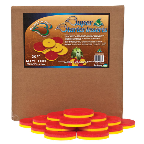 "Super Starter Insert, 3"", Red/Yellow, 180 Pack"