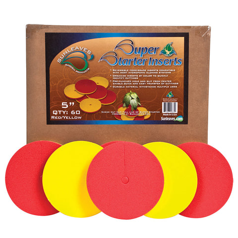 "Super Starter Insert, 5"", Red/Yellow, 60 Pack"