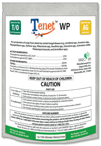 Blacksmith BioScience Tenet WP Biofungicide 16 oz / 1 lb (12/Cs)