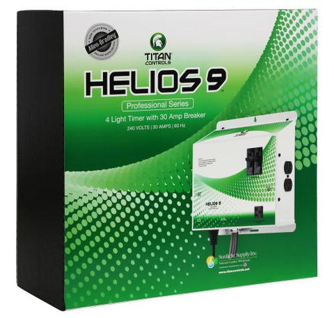 Titan Controls® Helios® 9 - Pre-wired 4 Light 240V Controller with Trigger Cord & Timer