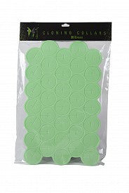EZ-Clone Soft Cloning Collars, Green, pack of 35