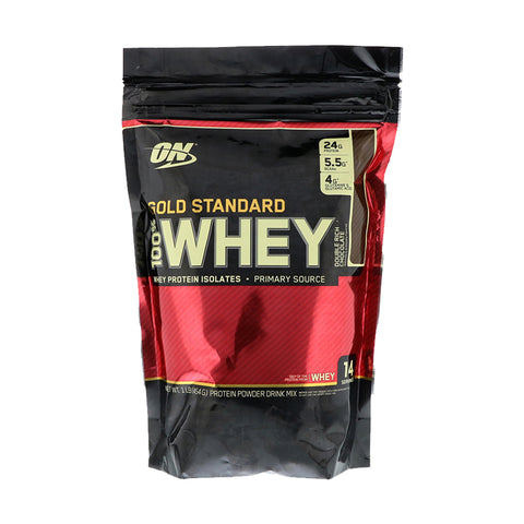 Optimum Nutrition - Gold Standard, 100% Whey Double Rich Chocolate 乳清蛋白粉 (超濃朱古力) 454g - 平行進口