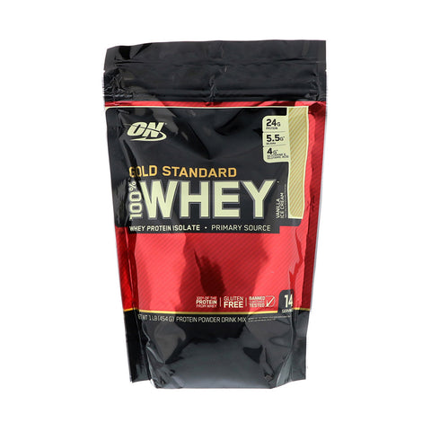 Optimum Nutrition - Gold Standard, 100% Whey乳清蛋白粉 (雲呢嗱味) 454g - 平行進口
