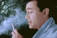 devanand smoking cigarette