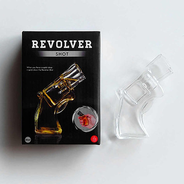 Transparent Revolver Shot Glass