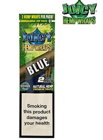 Juicy Jays Hemp Blunt Wrap - BLUE (2 Blunts)