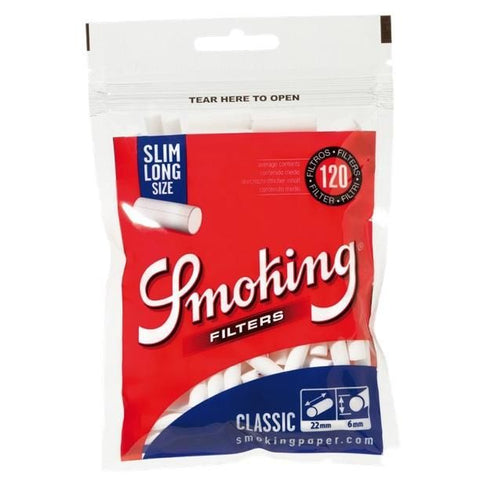 Smoking Classic Slim Long Filter Tips Pouch