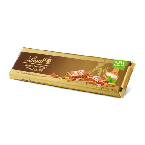 Lindt Chocolate Almond Pistachio Gold Bar 300gm