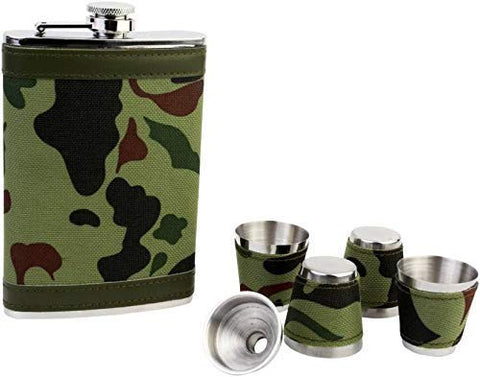 Military Army Hip Flask Set
