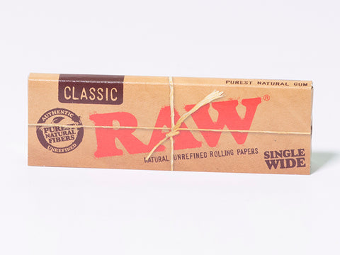 RAW Classic Rolling Paper Single Wide - 50 Leaves