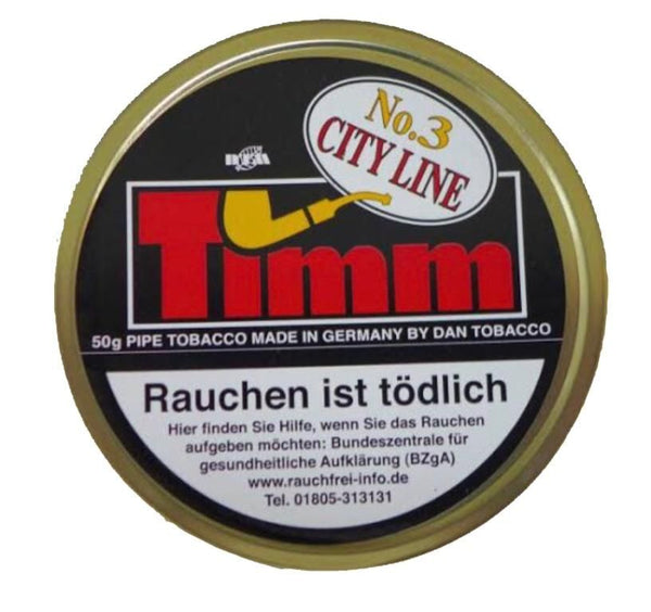 Timm City Line No.3 Honey Blend Pipe Tobacco 50Gms