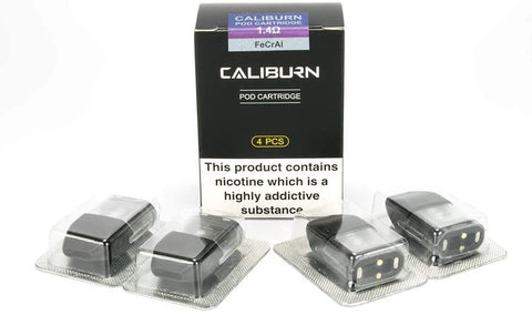 Caliburn Pod Kit Replacement Cartridges - 4Pods