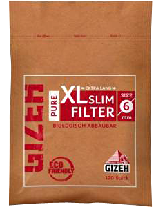 GIZEH PURE BROWN FILTER COTTON TIPS - 6mm