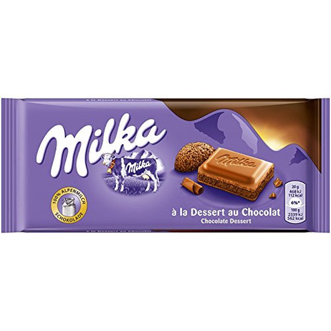 milka dessert alpine chocolate