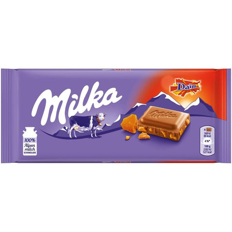 Milka Daim Chocolate Bar
