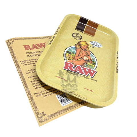 Raw Girl Rolling Tray -  Limited Edition