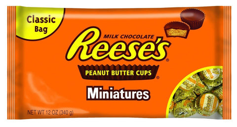 Reese's Milk Chocolate Peanut Butter Cups Miniatures - 340gm Bag
