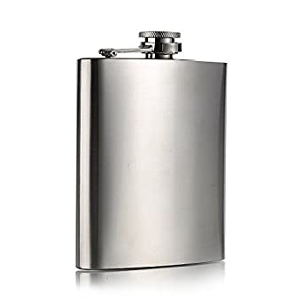 Silver Metal Liqour Flask