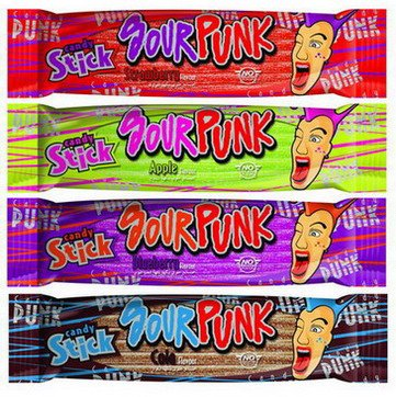 Sour Punk Candy Sticks