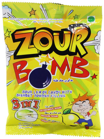 zour bomb sour lemon candy