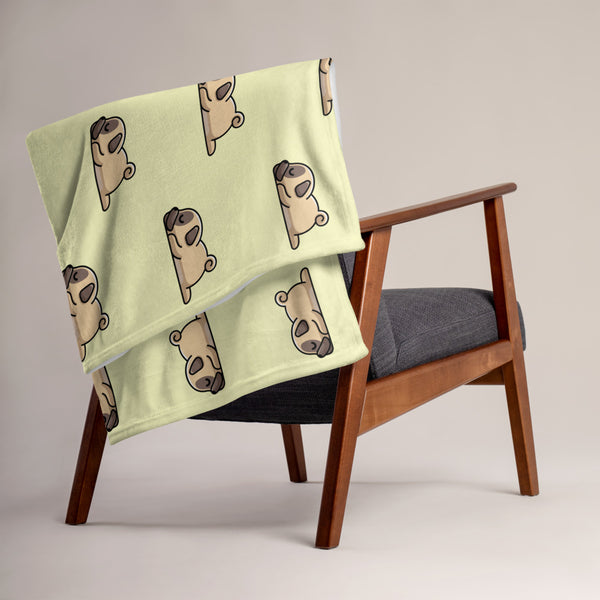 """Pug Life"" - Pug Throw Blanket"