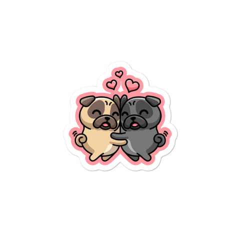 """Pug Love"" - Sticker"
