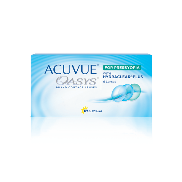 ACUVUE OASYS® 2-week Multifocal for PRESBYOPIA Contact Lenses