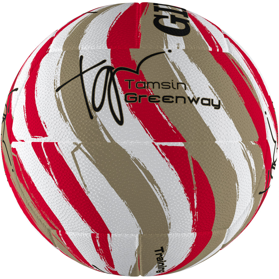 2600 NDBA19 86891605 Ball Signature Tamsin Greenway Swirl Gold Size 5, Tertiary