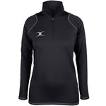 2600 RCGH18 81513805 Top Quest 2 Quarter Zip Fleece Ladies Black Front
