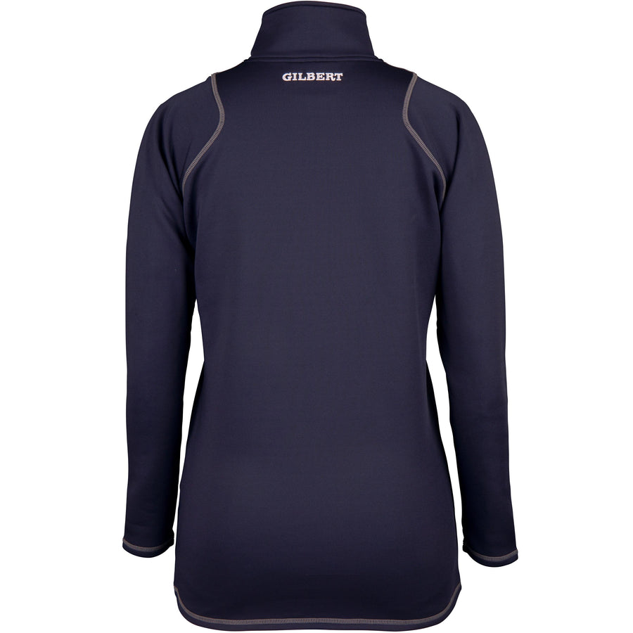 2600 RCGH18 81513905 Top Quest 2 Quarter Zip Fleece Ladies Dark Navy, Back