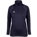 2600 RCGH18 81513905 Top Quest 2 Quarter Zip Fleece Ladies Dark Navy Front