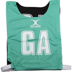 NCEA14NetballBibs Reversible Green Black Bib
