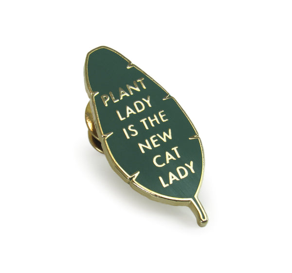 Plant/Cat Lady Leaf Pin
