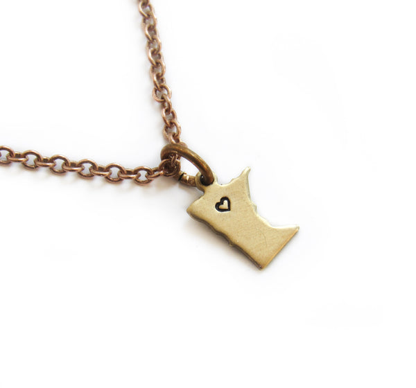 MN Heart-Stamped Necklace