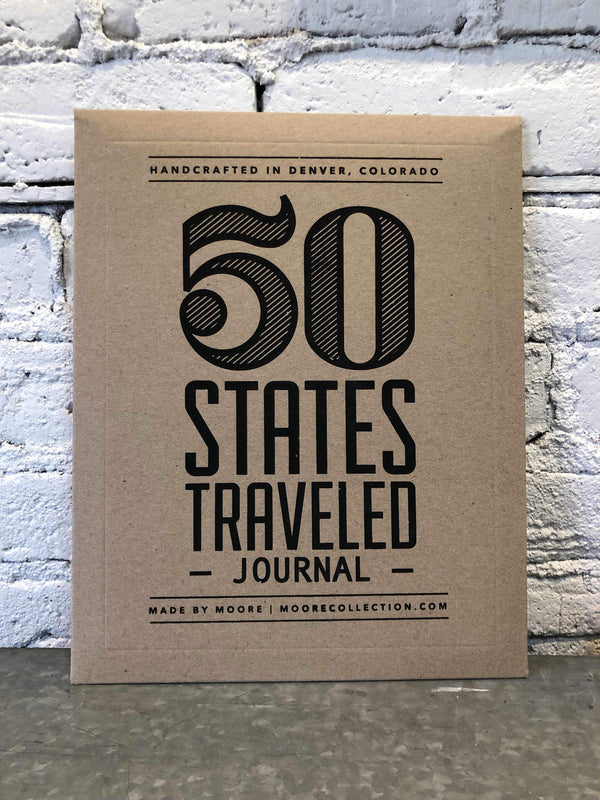 50 States Traveled Journal-Book-Yellow Umbrella