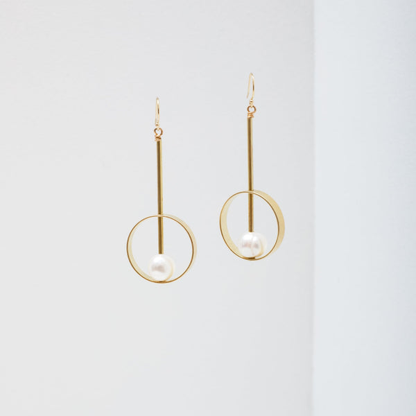 Hypatia Earrings - Pearl