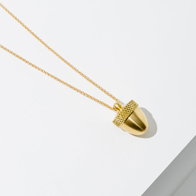 Acorn Canister Necklace