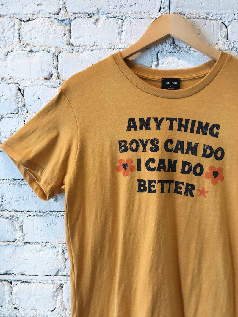 Anything Boys Can Do I Can Do Better Graphic Tee-Graphic Top-Yellow Umbrella