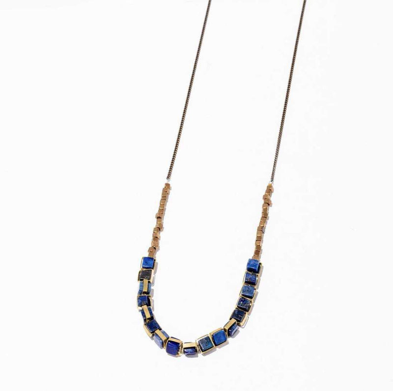 Aquilo Necklace - Lapis-Necklace-Yellow Umbrella