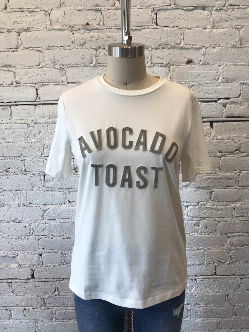 'Avocado Toast' Patched Tee-Graphic Top-Yellow Umbrella