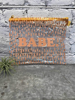 Babe Zipper Pouch-Bag-Yellow Umbrella