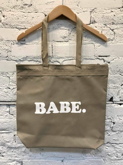Babe Zipper Tote-Bag-Yellow Umbrella